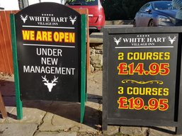 Kustom Signs Cwmbran A boards Chalk Boards Swinging Signs Torfaen